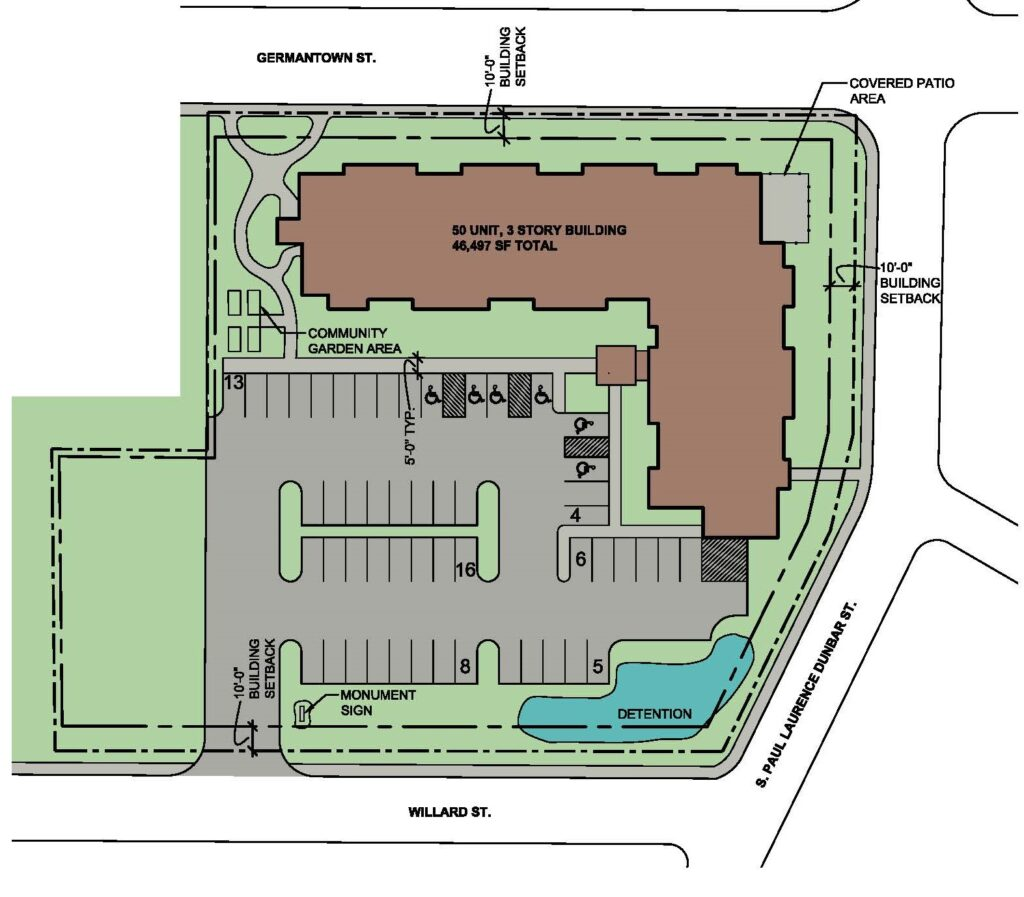 A02 Colored Site Plan